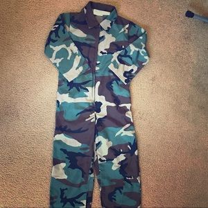 Army one piece suit.